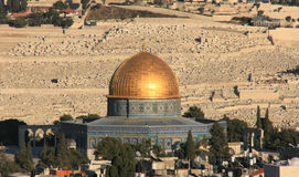 Dome of the rock in Jerusalem, israel. Royalty Free Stock Image