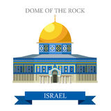 Dome of the Rock in Jerusalem Israel vector flat attraction. Dome of the Rock in Jerusalem, Israel. Flat cartoon style historic sight showplace attraction web Stock Photo
