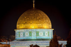 Dome of the Rock, Jerusalem, Night Royalty Free Stock Images