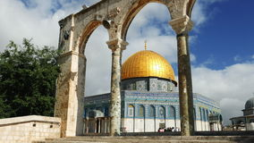 Dome of the Rock in Jerusalem over Temple Mount stock video