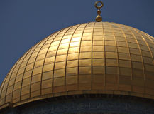 Dome of the Rock in Jerusalem. The Dome of the Rock on the Temple Mount in Jerusalem, Israel Stock Image