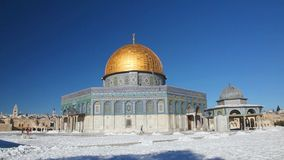 Dome of the Rock mosque in Jerusalem stock video