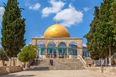Dome of the Rock mosque in Jerusalem. Royalty Free Stock Image