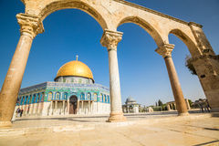 Dome of the Rock mosque in Jerusalem, Israel Royalty Free Stock Images