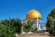 Dome of the Rock mosque in Jerusalem Royalty Free Stock Photography