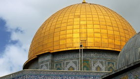 Dome of the Rock mosque in Jerusalem zoom shot stock footage