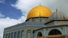 Dome of the Rock mosque in Jerusalem zoom shot stock video footage