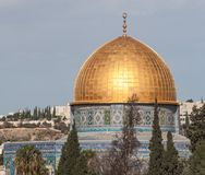 Dome of the Rock mosque on a sunny day Stock Images