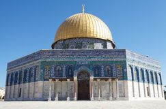 Dome of the Rock. Mosque at the Temple Mount, Jerusalem, Israel royalty free stock images