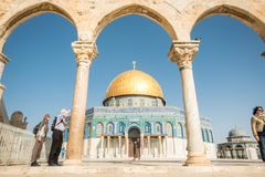 Dome of the Rock mosque on Temple Mount in Jerusalem Royalty Free Stock Photo