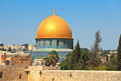 Dome of the Rock mosque. Stock Photo