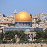 The Dome of the Rock from Mount of Olives Royalty Free Stock Image