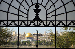 Dome of the rock - muslim holy mosque in Jerusalem, as seen from Royalty Free Stock Image