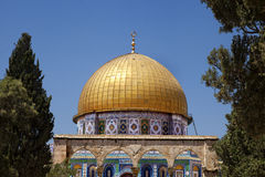 Dome of the Rock Among Trees Royalty Free Stock Photos