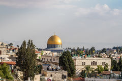 Dome of the the rock in Old City of Jerusalem Royalty Free Stock Images