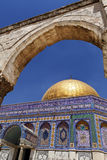 Dome of the Rock through an Arch Royalty Free Stock Photo