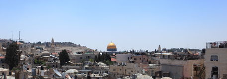 Dome of the Rock Panorama in Jerusalem Stock Images