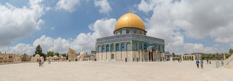 Dome of the Rock panoramic Royalty Free Stock Image