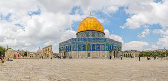 Dome of the Rock panoramic Stock Image