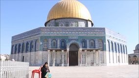Dome of Rock Plaza stock video