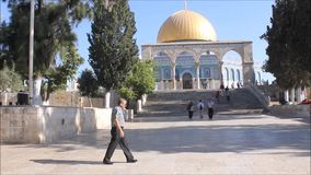 Dome of Rock Plaza stock footage