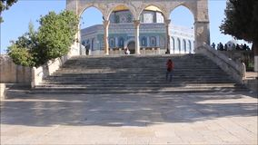 Dome of Rock Plaza stock video footage