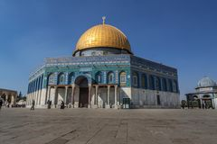 Dome of the Rock shrine, Jerusalem, Israel royalty free stock photos