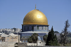 Dome of the Rock temple, Jerusalem. Royalty Free Stock Image