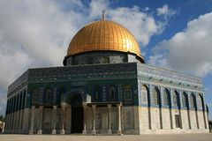 Dome of the rock, Temple Mount Royalty Free Stock Photo
