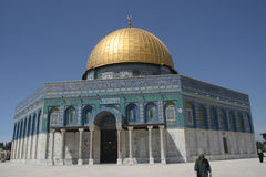 Dome of the Rock, Temple Mount. Jerusalems Dome of the rock,the islamic and Jewish center of the world. A beutiful and historic site stock photo