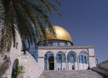 Dome of the Rock,Temple Mount. The Golden Dome of the Rock, Jerusalem,Israel Stock Photo