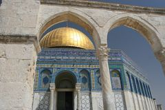 Dome of the Rock,Temple Mount. The Golden Dome of the Rock, Jerusalem,Israel stock image