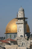 Dome of the Rock,Temple Mount. The Golden Dome of the Rock, Jerusalem,Israel stock images