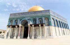 Dome of the Rock on Temple Mount, Israel Royalty Free Stock Photography