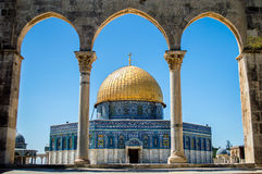Dome of the Rock on the Temple Stock Images