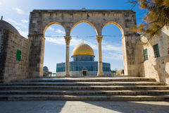 Dome of the rock. On the Temple Mount in Jerusalem Stock Images
