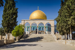 Dome of the Rock. At Temple Mount in Jerusalem, Israel Stock Photo