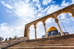 The Dome of the Rock on the Temple Mount in Jerusalem, Israel Royalty Free Stock Images