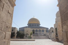 Dome of Rock in the Temple Mount in Jerusalem Stock Images