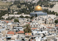 The Dome of the Rock on the Temple Mount in Jerusalem Royalty Free Stock Image