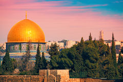 Dome of the Rock on the Temple Mount Royalty Free Stock Photos