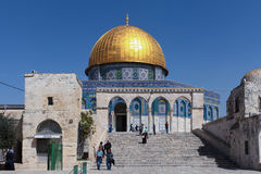 The Dome of Rock on the Temple Mount Royalty Free Stock Photos