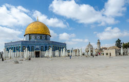 Dome of the Rock on Temple Mount in the old city of Jerusalem, Israel Royalty Free Stock Image