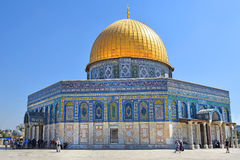 Dome of the Rock at Temple Mount, Old City of Jerusalem Royalty Free Stock Photography