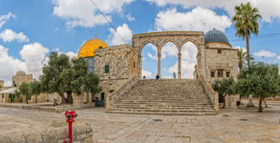 Dome of the Rock Temple Mount panoramic Royalty Free Stock Images