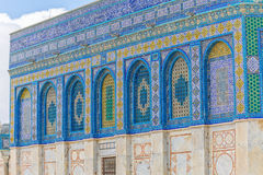 Dome of the Rock tiled mosaic wall Stock Image