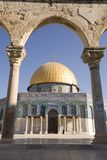 Dome of the Rock, viewed through arch Royalty Free Stock Image