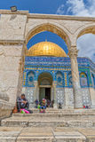 Dome of the Rock visitirs Jerusalem Royalty Free Stock Photos