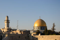Dome of the Rock and wall Stock Photos