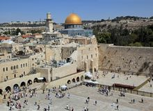 Dome of the Rock and Western Wall royalty free stock images